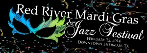 The Justin Pierce Jazz Band performs on February 22nd for the Red River Mardi Gras and Jazz Festival